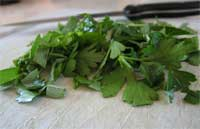Chopped parsley and sage