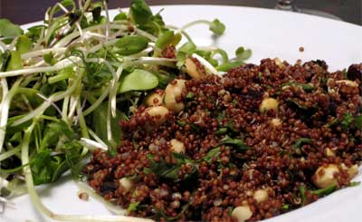 Quinoa with mint