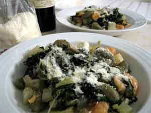 Friendly chard and gnocchi