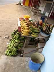Gabon market stall