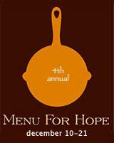 Menu for Hope IV