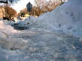 Icy sidewalk
