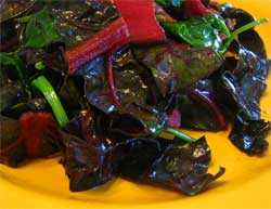 Sauteed chard and spinach