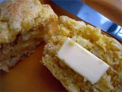 Corn muffin post-baking