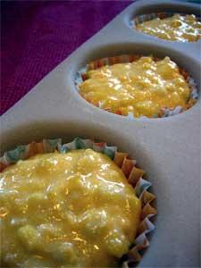 Corn muffins pre-baking
