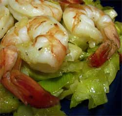 Nuoc cham-caramelized leeks with shrimp