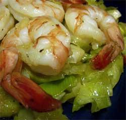 Nuoc cham-caramelized leeks with shrimp