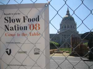 Slow Food Nation's Victory Garden sits in the shadow of City Hall.